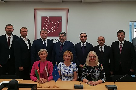 Representatives from local governments of Azerbaijan come to Latvia for a study visit