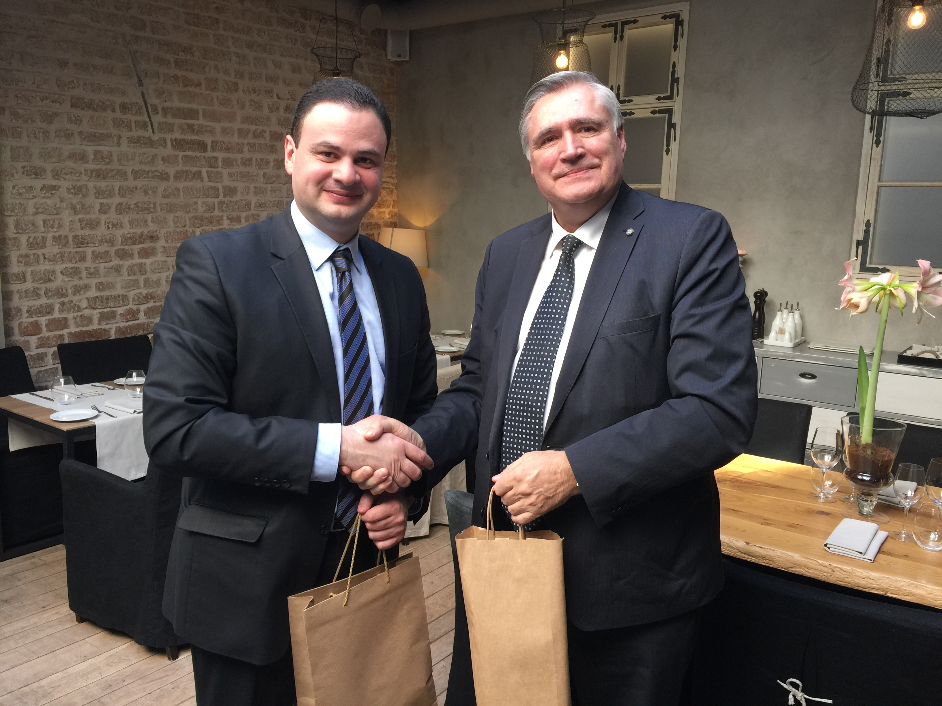 Andris Jaunsleinis meets the Ambassador of Georgia